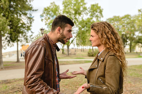 man-and-woman-wearing-brown-leather-jack