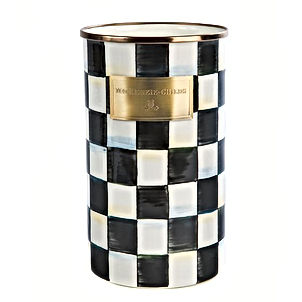 Courtly Check Enamel Utensil Holder.jpg