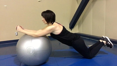 Fitball plank