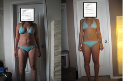 Bikini before and after