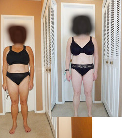 Before and after progress photo