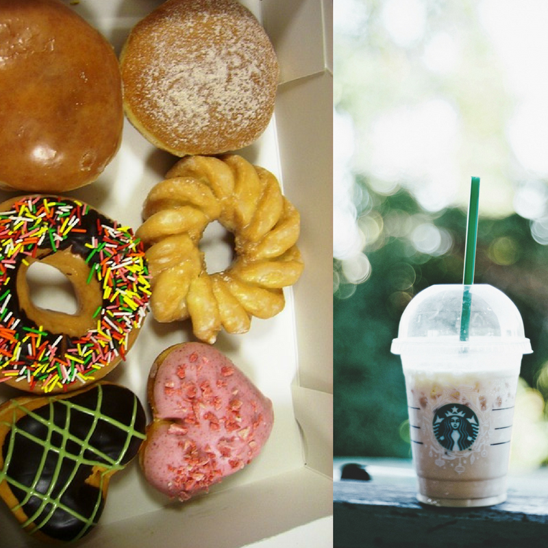 donuts and frappucinos