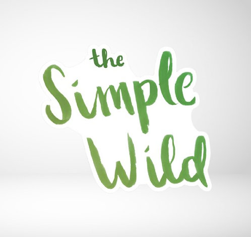 The Simple Wild die cut decal