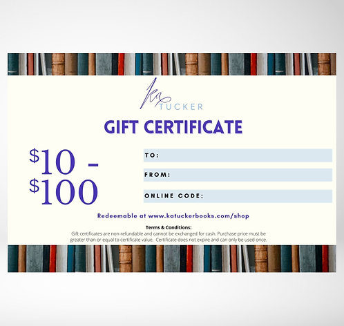 Gift Certificates ($10-$100)