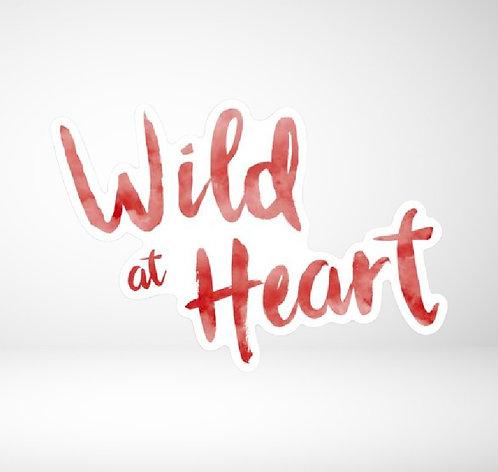 Wild at Heart die  cut sticker
