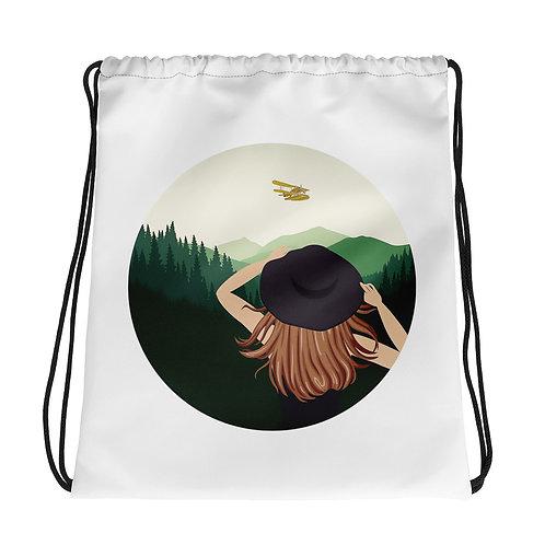 Calla in the Wild Drawstring Bag