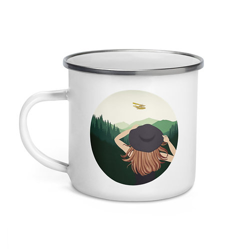 Calla in the Wild 12 oz Enamel Mug