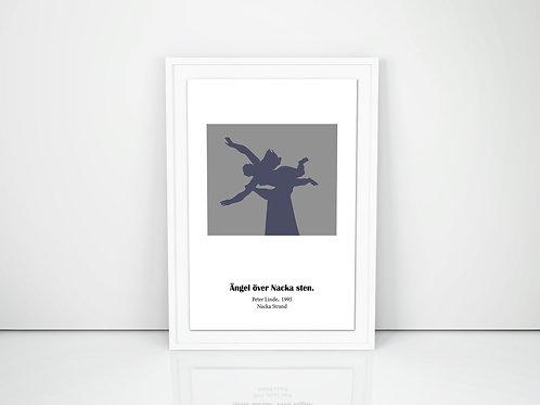 Ängel över Nacka sten. Konstnär: Peter Linde