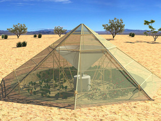 Design of a Dew collector Greenhouse