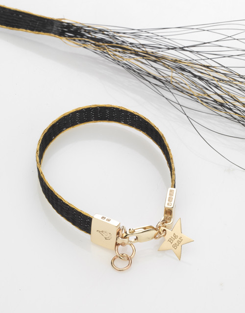 The Burnished horse woven ribbon bracelet Brocade gilt-edged