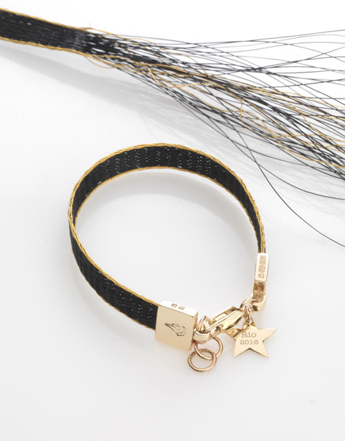 The Burnished Horse Woven horse hair ribbon bracelet Big Star