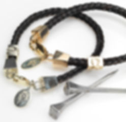 The Burnished Horse braided bracelets with farriers nails clasp