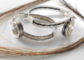 The Burnished Horse woven horse hair ribbon bracelets and rings