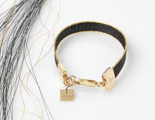 London 2012 Olympics woven horsehair ribbon bracelet The Burnished Horse Signature