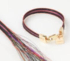 Woven horse hair ribbon bracelet