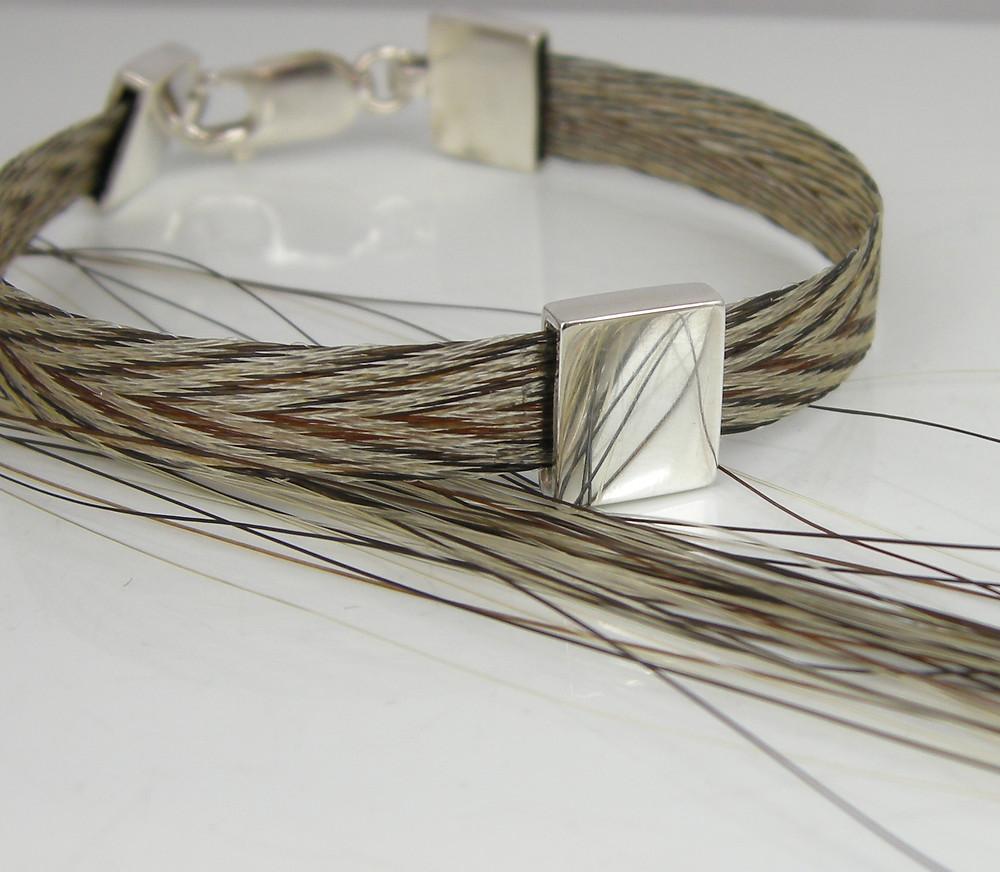 The Burnished Horse woven ribbon bracelet Chevrons