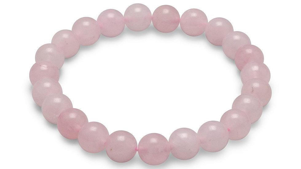 Rose Quartz Bead Stretch Bracelet