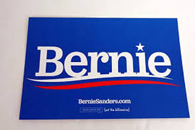 Bernie Sanders yard sign with wire for display
