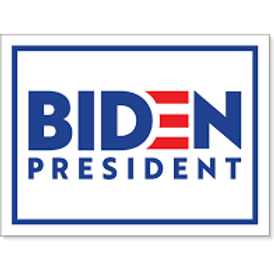 Joe Biden yard sign with wire for display