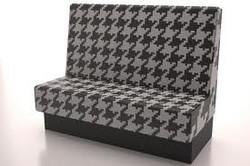 Custom printed fabric bench