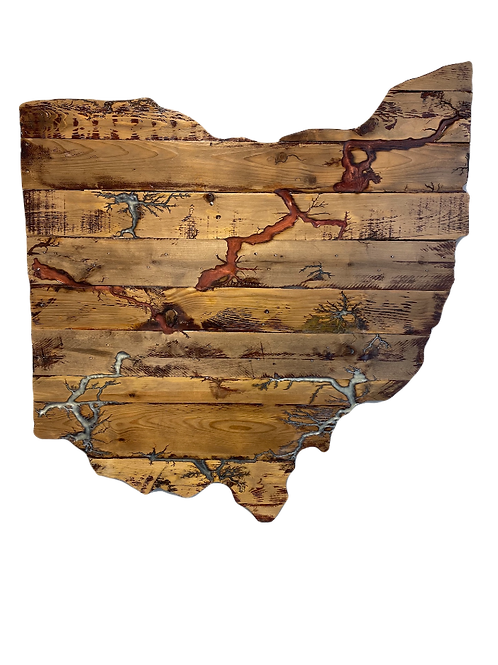 Wooden Fractal Burned Ohio
