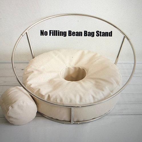 Support + pouf beanbag pour posing bébé taille P