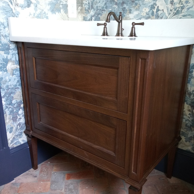 Walnut furniture vanity
