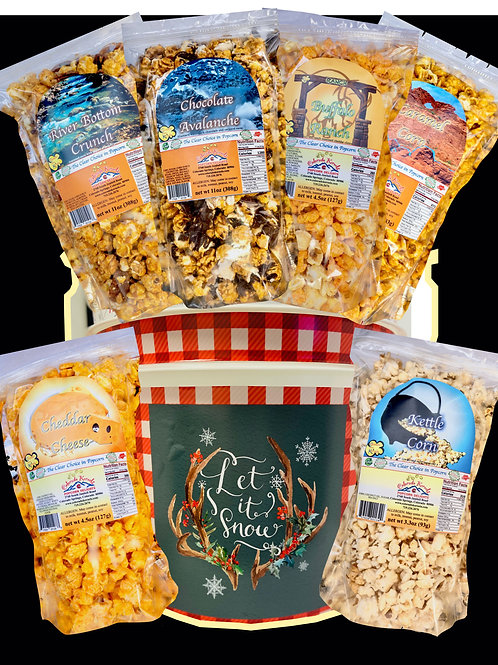 Let It Snow Savory/Delight Popcorn Bucket
