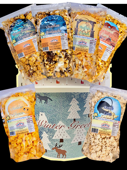 Winter Greetings Savory/Delight Popcorn Bucket