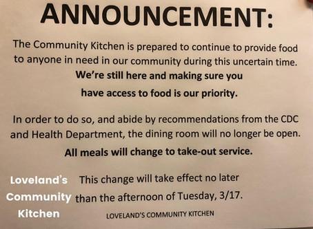 Community Kitchen Update: March 16