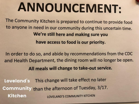 Community Kitchen Update: March 16