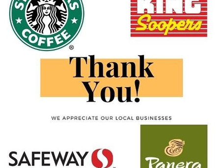 Thank you to our local businesses!