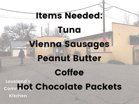 Current Needs at the Kitchen