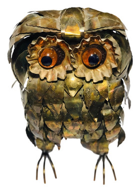 Mid Century Curtis Jere Style Owl Figurine