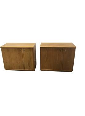 1970's Vintage Mid Century Thomasville Cabinets-a Pair