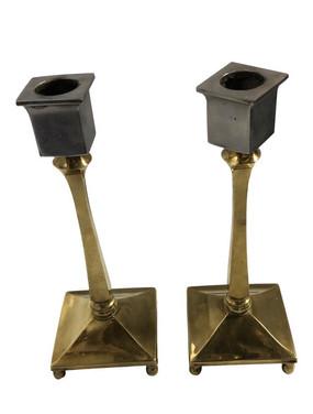 Vintage Bradley & Hubbard Candle Holders - a Pair