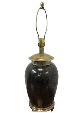 Frederick Copper Ceramic Brass Lamp