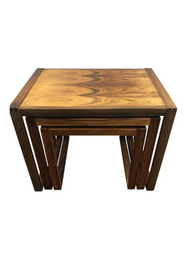 Mid Century Modern Rosewood Nesting Tables - 3 Pieces