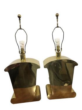 Mid-Century Chapman Brass Lamps - a Pair