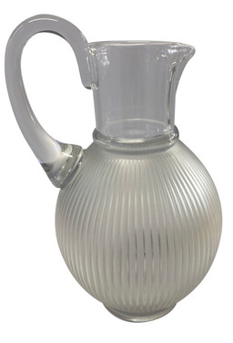 1970s Lalique France Crystal Pitcher