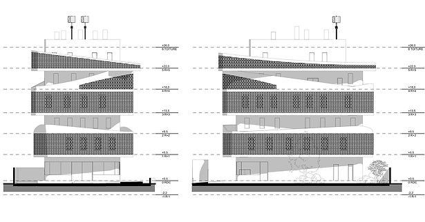 ANB_Elévations_Construction du l'antenne régionale de la BRVM avec une salle des marchés et bureaux