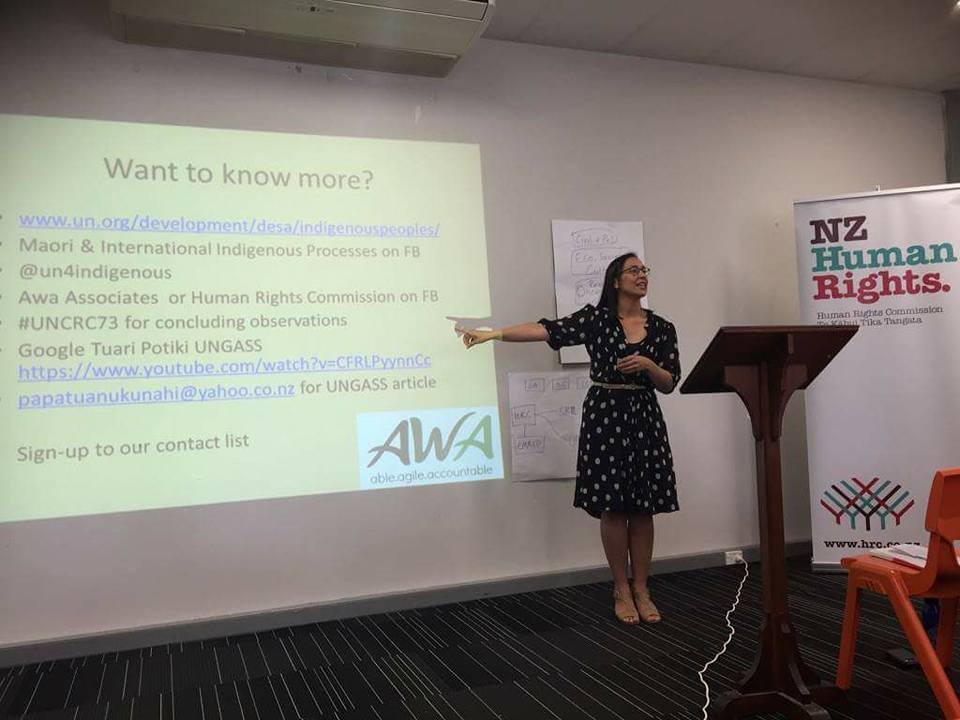 Awa presents with NZ Human Rights