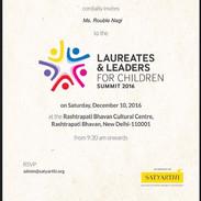Laureates & Leaders For Children Summit 2016