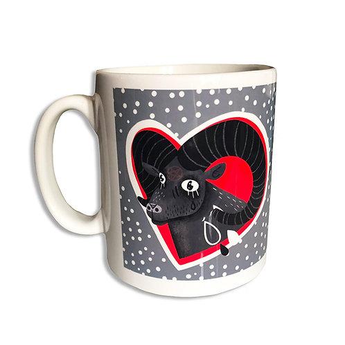 Lost Love satanic ram gothic mug
