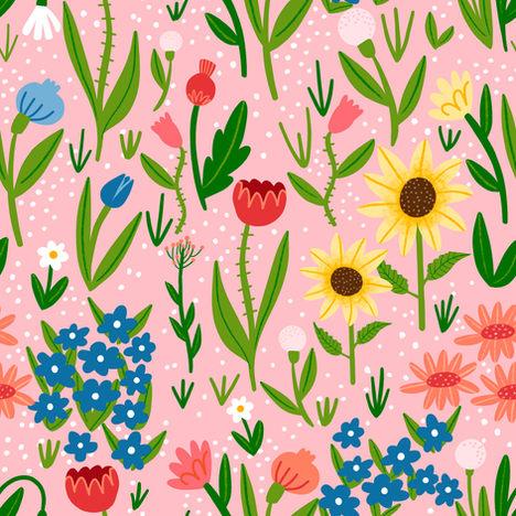Pink english garden