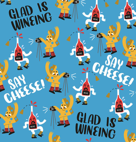 Glad is wineing