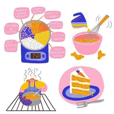 How to make carrot cake 2