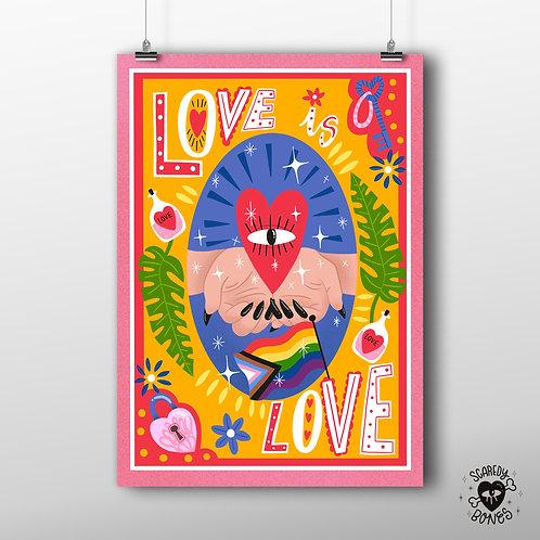 Love is love A3 Art print