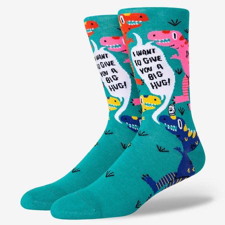 Dinosaur hug socks