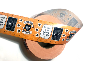 Scaredy Bones packaging tape